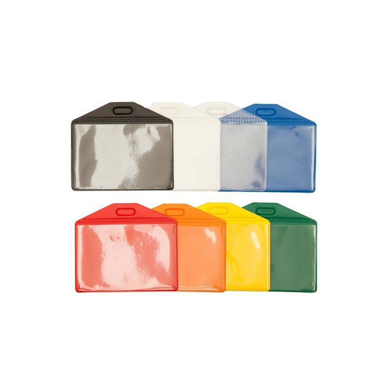 Flexibele vinyl kaarthouder, verkrijgbaar in verschillende kleuren.